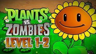 Plants vs. Zombies (PC) - Adventure - Level 1-2 Gameplay Playthrough