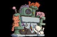 Tombstone HeadstoneTile RARE Kitties