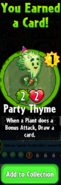 Earning Party Thyme