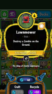 Lawnmower stats
