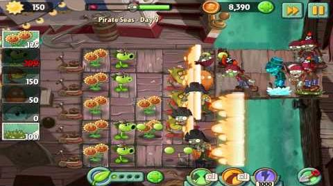 Plants vs Zombies 2 Pirate Seas Day 9 Walkthrough