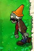 Moustache Conehead Zombie