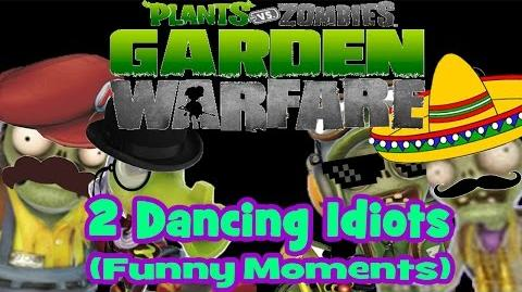 2 Dancing Idiots (Plants vs. Zombies Garden Warfare Funny Moments)