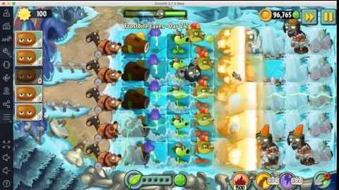 Plants vs Zombies 2 Hidden Level Frostbite Caves Day 24B