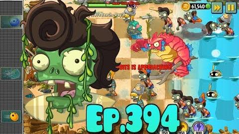 Plants vs. Zombies 2 Bulb Bowling level - New Deep Sea Gargantuar - Big Wave Beach Day 8 (Ep