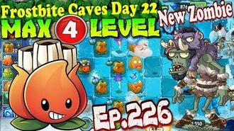 Plants vs. Zombies 2 (China) - A.K.E.E. MAX 4 level New Chief Ice Wind Zombie - Frostbite Caves 22