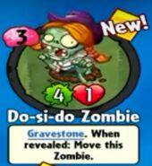 Receiving Do-si-do Zombie