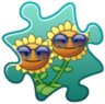 Twin Sunflower Costume Puzzle Piece