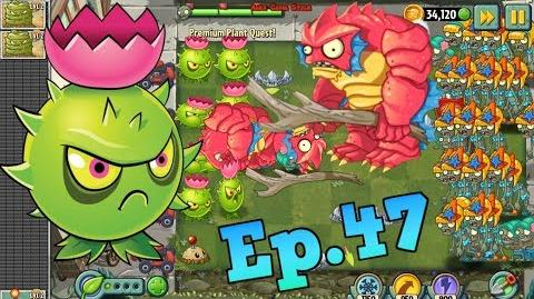 Plants vs. Zombies 2 Homing Thistle Power Up and play Premium Plant Quest (Ep