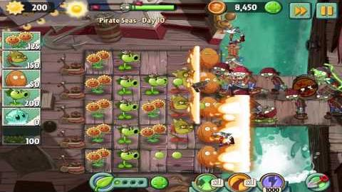Plants vs Zombies 2 Pirate Seas Day 10 Walkthrough