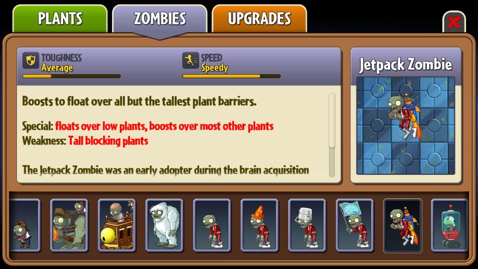 Jetpack Zombie/Gallery | Plants vs  Zombies Wiki | FANDOM