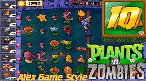 Plants vs. Zombies - I, Zombie Endless Streak 1-10 Hard Achievement Better Off Dead Ep