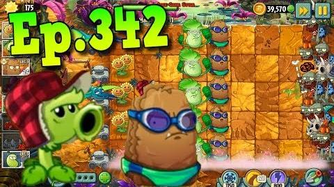 Plants vs. Zombies 2 Primal Peashooter, Primal Wall-nut - Jurassic Marsh Day 11 (Ep