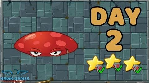 Plants vs Zombies 2 China - Steam Ages Day 2 Flat-Roof Mushroom 《植物大战僵尸2》- 蒸汽时代 2天