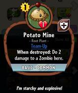 Potato Mine Heroes description
