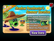 Shadow Peashooter's Summer Vacation Ad