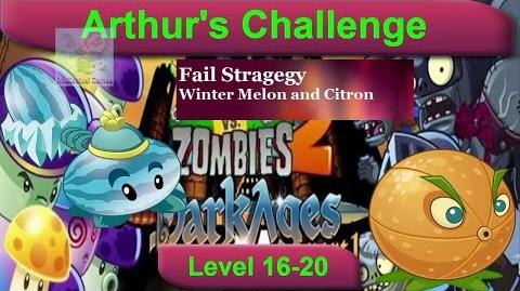 Arthur's Challenge Level 16 to 20 Plants vs Zombies 2 Dark Ages