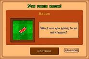 U found bacon