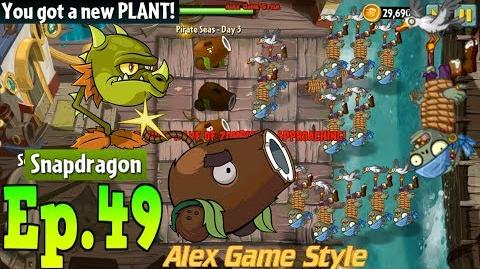 Plants vs. Zombies 2 Got a New Plant Snapdragon Pirate Seas Day 3 (Ep