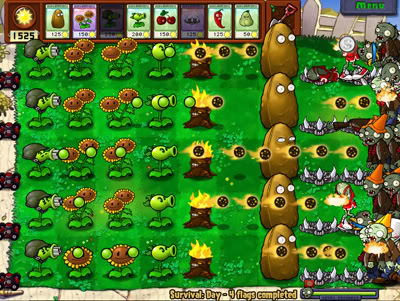 Coloring Pages For Plants Vs Zombies : Image gatling pea yard g plants vs zombies wiki fandom