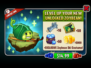 Level Up Unlocked Zoybean Pod with Zoybean Costume Ad