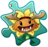 Primal Sunflower Costume Puzzle Piece