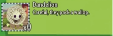 DandelionDescriptionPvZGW2