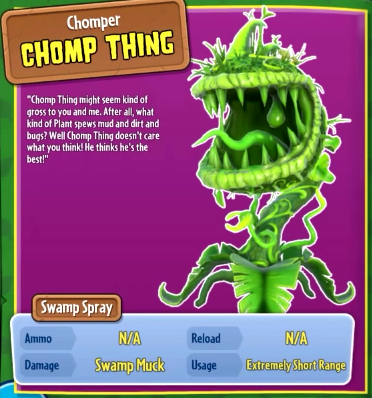 Image - ChompThing.png | Plants vs. Zombies Wiki | FANDOM powered by ...