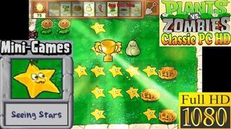 Plants vs. Zombies - Seeing Stars Mini-Games - Classic PC HD (Ep.33)