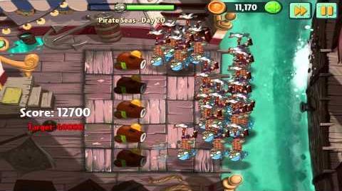 Plants vs Zombies 2 Pirate Seas Day 20 Walkthrough