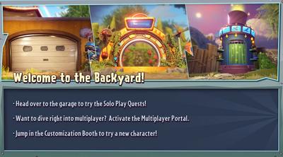 Backyard Battleground Welcome Message