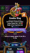 Zombie king stats