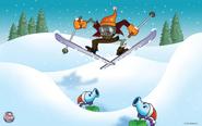 Skiing Zombie
