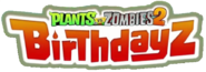 Plants Vs. Zombies 2 Birthdayz Logo