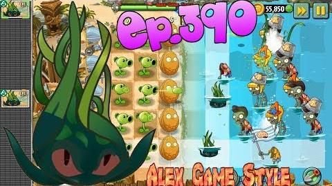 Plants vs. Zombies 2 New plant Tangle Kelp - Big Wave Beach Day 5 (Ep