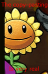 Copy Pasted PvZ2 Sunflower in a PvZH comic