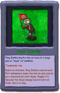 Almanac Card Flag Zombie