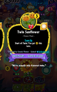 Twin Sunflower Conjured by Cosmic Flower