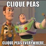 CliquePeasEverywhere