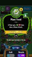 Plant Food stats