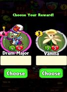 Choice between Drum Major and Vanilla