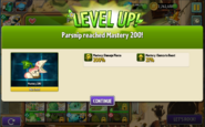Parsnip reached Mastery 200!