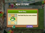 Getting Bonk Choy Birthday Costume