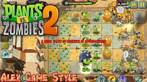 Plants vs. Zombies 2 Never have more than 15 plants Ancient Egypt Day 22 (Ep