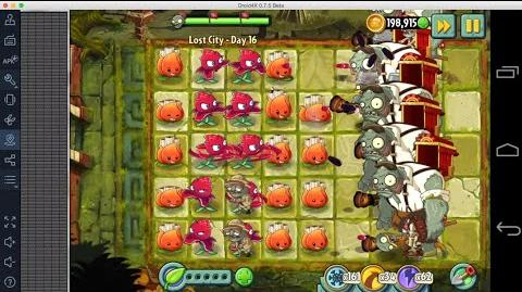 Plants vs Zombies 2 - Lost City Day 16