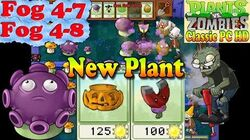 Plants vs. Zombies - New Gloom-shroom Pumpkin Magnet-Shroom - Fog 4-7 - Fog 4- 8 - PC HD (Ep