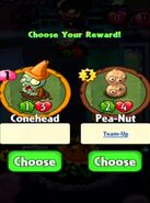 Choice between Conehead and Pea-Nut