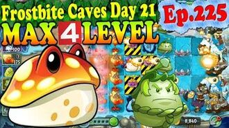 Plants vs. Zombies 2 (China) - Toadstool MAX 4 level - Frostbite Caves Day 21 (Ep.225)