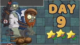 Plants vs Zombies 2 China - Steam Ages Day 9 Gargantuar Battle 《植物大战僵尸2》- 蒸汽时代 9天-0