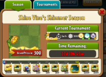 Shine Vine's Shimmer Season Prize Map